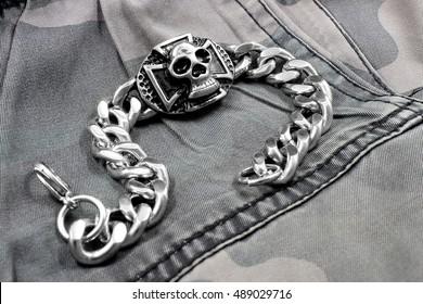 Massive silver bracelet for men - Stainless Steel
