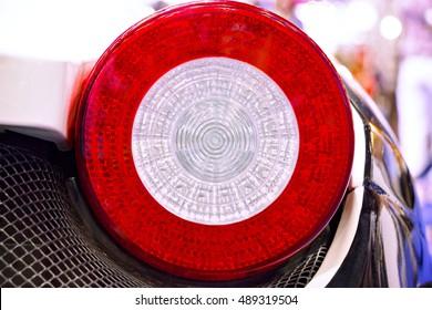 Das LED-Rücklicht. Die Rücklichter des Luxus-Sportwagens.