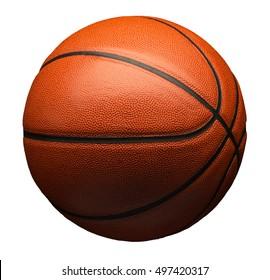 Basketbal geïsoleerd op wit