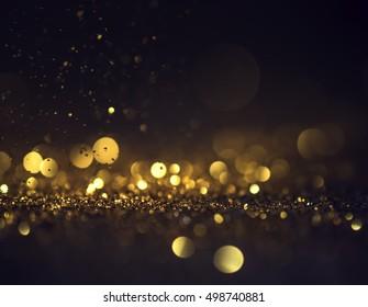 Fondo de grunge de luces de brillo, brillo desenfocado abstracto Twinkly Lights and Stars Christmas Background.