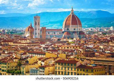 イタリア、フィレンツェの街並み