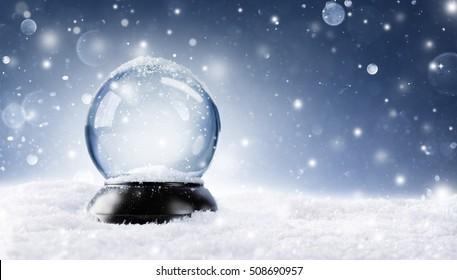 Globo de nieve - Bola mágica de Navidad