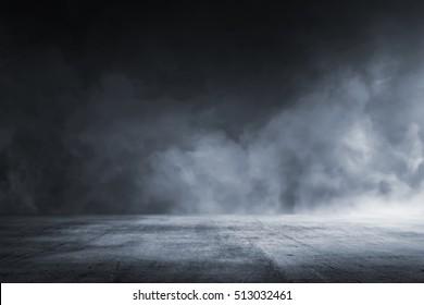 Textura de piso de concreto oscuro con niebla o niebla