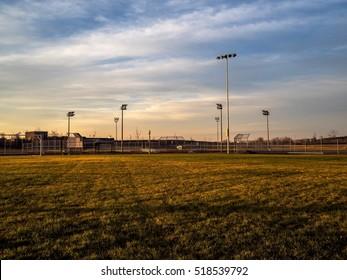BaseBall Park At Sunrise