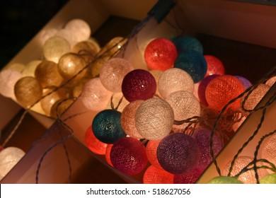 Decoration lighting stall at Chiang Mai night market
