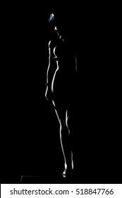 Anime doll silhouette