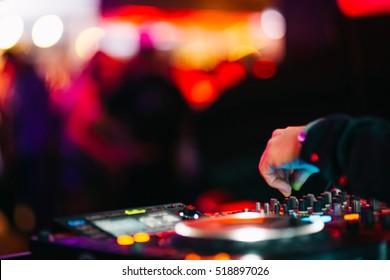Musik Hintergrund DJ Night Club Deejay Plattenspieler Retro