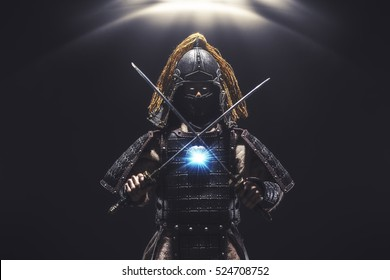 Portrait of a samurai