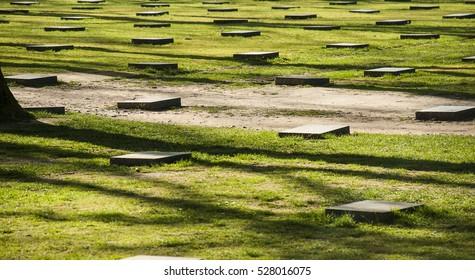 War Cemetery in Langemark - Graves Unknown soldiers