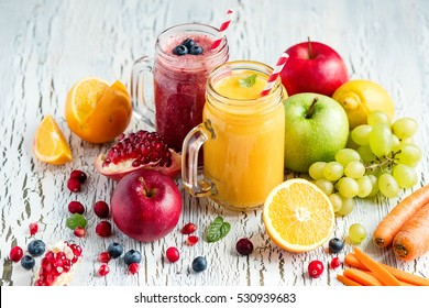 Berry and vegetables  smoothie, healthy juicy vitamin drink diet or vegan food concept, fresh vitamins, homemade refreshing fruit beverage