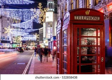 Soho in Christmas, London