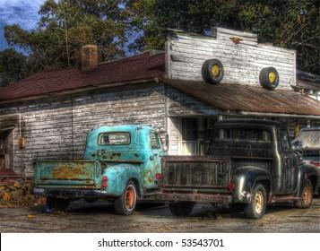 古いピックアップトラック