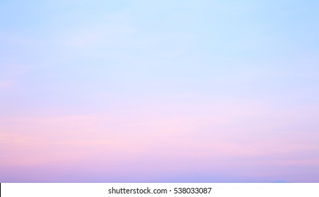 Blue sky sunset abstract for background
