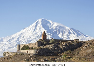 Monasterio de Khor Virap y monte Ararat, Armenia.