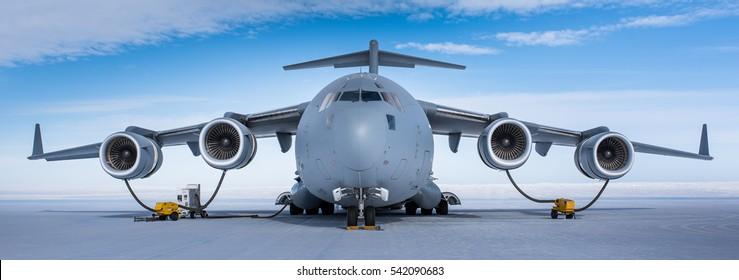 Reabastecimiento de C-17 en la Antártida