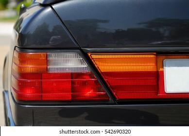 Luz traseira. Carro esporte