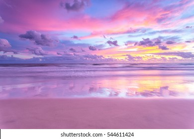 A cotton candy sunrise at the beach