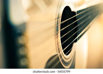 フィールドの浅い深さでクラシックギターの詳細