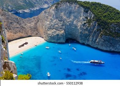 Berühmte Schiffswrackbucht, Insel Zakynthos, Griechenland
