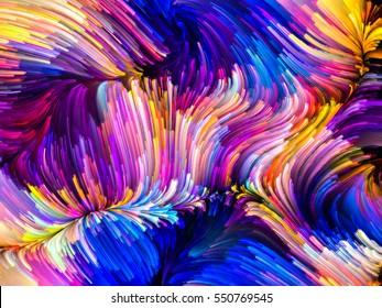 Digital Paint-Serie. Wirbel fraktaler Pinselstriche zum Thema Kreativität und Kunst.