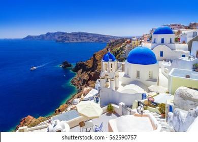 Schöne Oia Stadt auf Santorini Insel, Griechenland