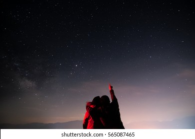 Counting stars in night.