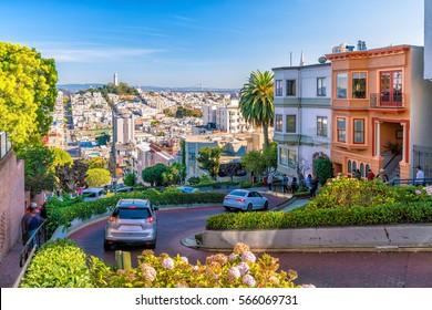 アメリカ合衆国、サンフランシスコのロンバードストリート