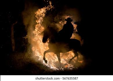炎の馬のライダー