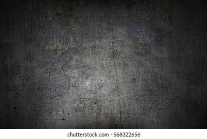Strukturierter Wandhintergrund des grauen Schmutzmetalls