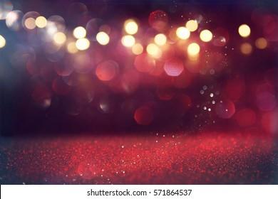 Sfondi i dritave të cilësisë së mirë me shkëlqim të kuq. i defokusuar