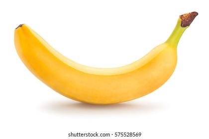 enkele banaan geïsoleerd