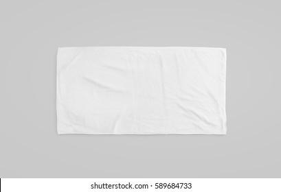 Schwarzes weißes weiches Strandtuchmodell. Klares, ungefaltetes Wischermodell, das auf dem Boden liegt. Shaggy Pelz Bad strukturierte Jack-Handtuch Draufsicht. Inländische Stoff Küche Overlay Vorlage bereit für den Druck ..