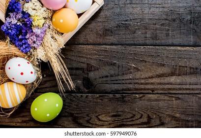 ハッピーイースターの日、ウサギと卵、世界中のクリスチャンが祝う