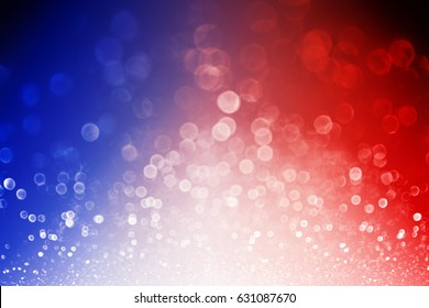 Abstract patriotic red white and blue glitter sparkle explosion background for celebrations, voting, July fireworks, memorials, labor day and elections