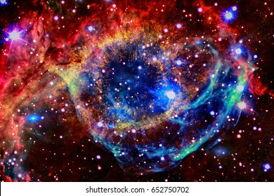 Colorful nebula in outer space. Elements of this image furnished by NASA.