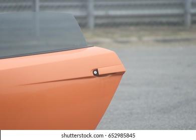 11. September 2015: Lamborghini Gallardo auf dem Circuit de Lohéac, Frankreich.