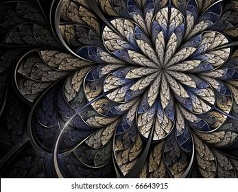 Winter cold fractal flower