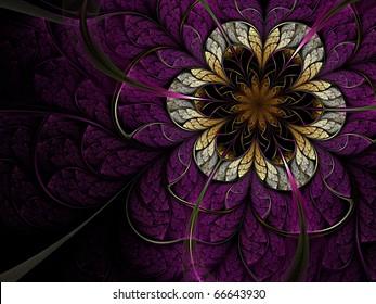 Dark fractal flower