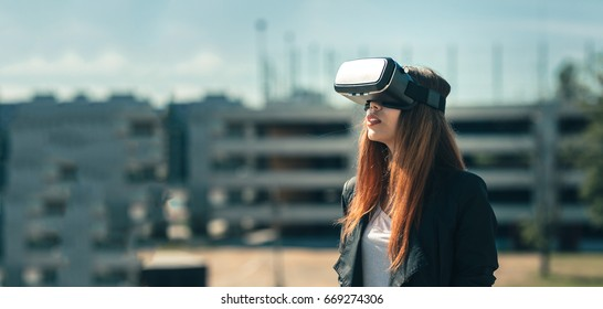 Happy gamer finally tests out a product that produces augmented realities, happy to see such amazing sci-fi technology work.