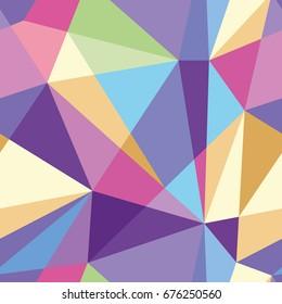 ベクトル抽象的な多角形のカラフルなパターン。シームレスパターンは、壁紙、パターンの塗りつぶし、Webページの背景、表面のテクスチャに使用できます。