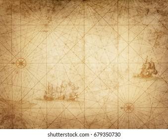 Fondo de grunge de tema pirata y náutico.