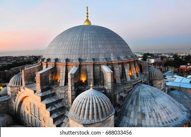 Domo de la mezquita de Suleymaniye, Estambul, Turquía