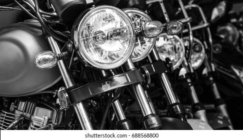 Een close-up van de motorfiets
