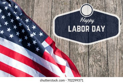 Happy Labor Day. USA flag. American holiday