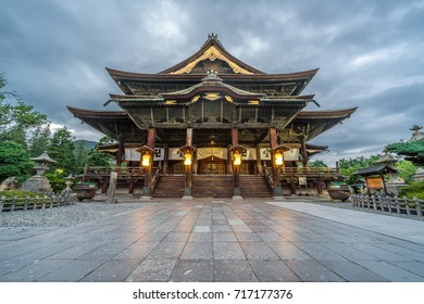 Zenko-ji Temple complex. Hondo (Main Hall) in Nagano City, Japan
