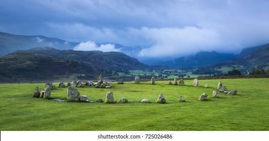 Castlerigg Stone Circle, Bronze Age prehistoric monument near Keswick, English Lake District