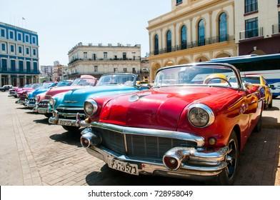 哈瓦那古巴老爺車