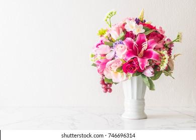 beautiful bouquet flower in vase