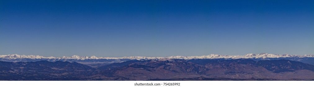 Continental Divide mit Blick vom Pikes Peak in Colorado.