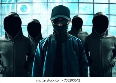 Gruppe von Hackern